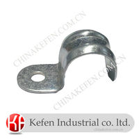 20mm Galvanised pipe cable half plain clamp saddle for electrical steel conduit