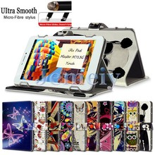 Hot! New Arrival Portfolio Flip Wallet leather Stand Cover, Universal Tablet PC Case 7 inch For iRu Pad Master M713G 7""