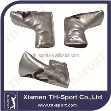 Silver Custom Leather Putter Head Covers Golf