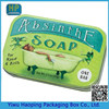 Metal Oblong Tin Green Portable Hot sale Soap packaging box
