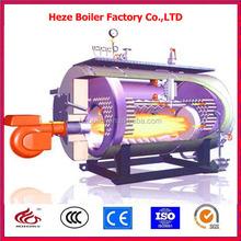 Horizontal natural gas low temperature hot water boiler