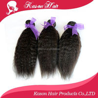 Qingdao Top Quality 6A Hair Products Peruvian Yaki Human Hair Curly Weave Weft 18 20 22 Inch 3Pcs Lot In Stock