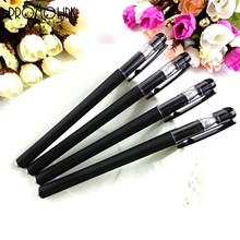 wholesales professional black matt smooth office business gel pen