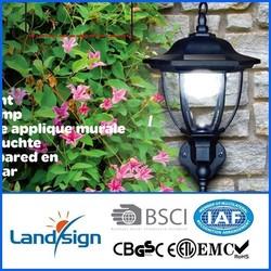 PIR sensor motion solar light plastic solar lawn lamp outdoor XLTD-249D low voltage lamp