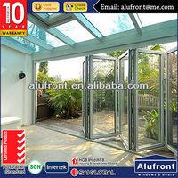 70 Series Aluminum Bi-folding Door / commercial smooth folding door