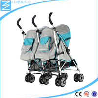 China Factory foot brake system canopy twins buggy baby twins sisters trolly