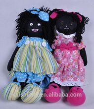 Brinquedos de pelúcia brinquedos de pelúcia preto africanos