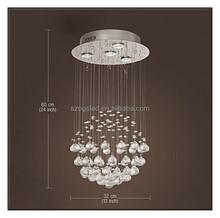Decorativa moderna lustre sombra luz / forma de bola de cristal lâmpada do teto