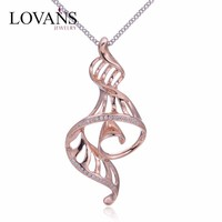 925 Sterling Silver Crystal Charms And Pendants Gold Plated Jewelry FP039