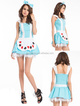 Alice in Wonderland Sexy Lolita Fancy Dress Maid Costume Halloween Party Outfit