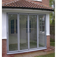 Modern and Luxury Tempered Double Glazing Sliding Folding Door Folding Garage Door