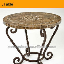 nice design round stone top dining tables