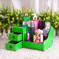 Mini 2 drawer woodiness desktop cosmetics receive a case classification box paste box, jewelry box, jewelry box, skin care produ