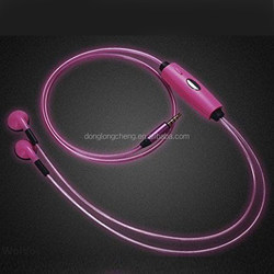 high quality LED Headphone EL Headphone, glow in the dark