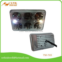 Square 6 Lamp beads with front glass Super power shenzhen motorcycle led headlight