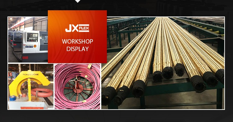 Одноместный SAE100R6 Волокна Плетеные и Резиновым покрытием для Гидравлических Шлангов