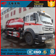 Factory selling china North benze 10cbm vacuum sewage suction truck