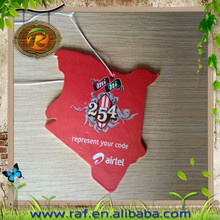 2015 New fashionable logo pringted Wholesale Europe Hot selling & cheap hanging paper car air freshener for gifts