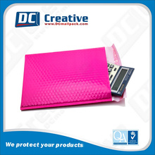 Pink glossy surface coloured packaging bags