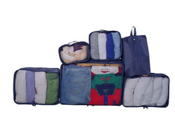 Wholesale cloth packing cubes travel luggage bag