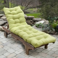 2015 new green lounger chair cushion,button exotic soft outdoor and indoor exquiteness sun lounger,art elegant cushion