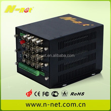 16channel analog video digital fiber optic cctv video converter