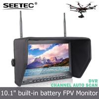 10.1 inch channel auto searching fpv monitor 5.8ghz antennas all in one dvr screen rc helicopter rotor blades