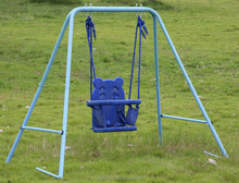 outdoor wholesale plastic playground height adjustable swing