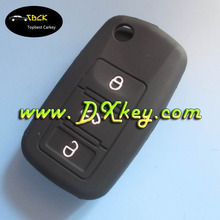 Hot selling 3 buttons silicone key cover for skoda flip key skpda remote control silicone cover