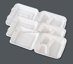 disposable Sugarcane pulp biodegradable container