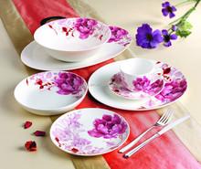 Retail 16pcs Dinner Set with Pink Flowers Royal Porcelain Dinner Set. Fine Bone China Dinnerware