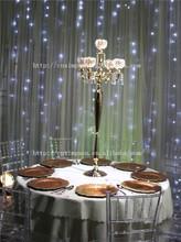 Uzun 100cm 5 kafalı altın şamdan, masa üstü şamdanlar düğün dekorasyon