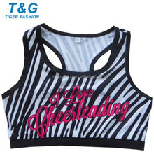 Digital sublimated bra cheering women