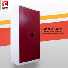 Top quality assembled colorful metal large wardrobe armoires, with safe box