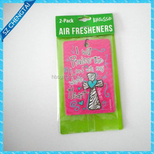 Diffent shapes, different printing, customized paper car air freshener wholesale