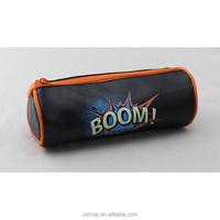 boom wonder kid boy black PU pencil bag,pen case,school kids study tool holder