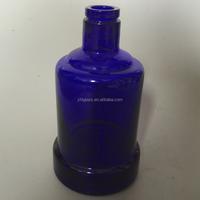 art design blue wine glass bottle