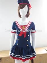De halloween para mujer de color azul marino de marinero de fantasía de disfraces vestido de traje de s-2xl