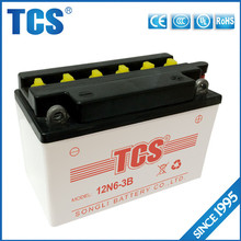 12N6-3B Dry Charged Motorcycle Battery