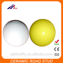 Supersafe white ceramic road stud with high quality