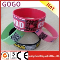 Top Sale The Silicone Bracelet Popular Promotional Gifts,printed qr code silicone wristbands scannable qr code silicon bracelets