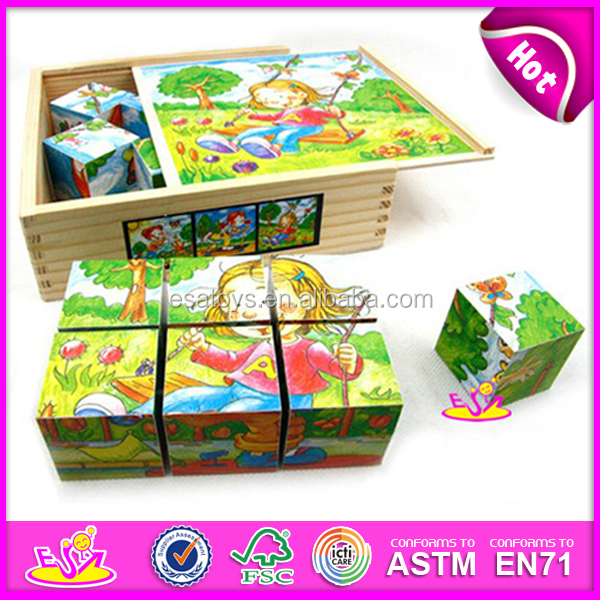 Hot new product for 2015 wooden puzzle toy,high quality kids wooden puzzle toy,hot sale 3d wooden puzzle for children W14F012