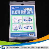 Thin pe plastic cover sheet biodegradable polyethylene dust cover stretch film