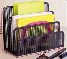 HOT 4-unit metal mesh envelope holder/3 divided paper and letter holder