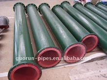 rubber lined carbon steel pipe used to transport liquid mediums