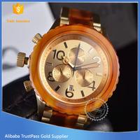 Two tone gold ceramic lady wrist watch in stock, wholesale ceramic watch