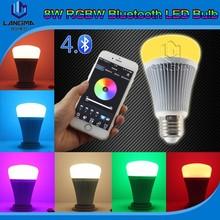Langma Light change with music rhythm fasion bluetooth LED bulb 8W E27/B22 wireless controlled