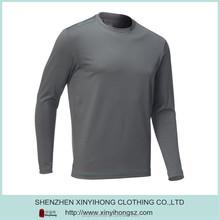 Polyester spandex mixed Dri-fit Breathable UV protect material mens long sleeve fishing shirt