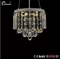 chandelier wire hanging lamp Fabric shape crystal black lighting