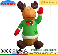 DJ-TL-020 Huge Airblown cartoon cow 4 feet outdoor inflatable Christmas decorations